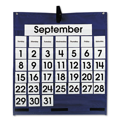 Carson-Dellosa 158156 Publishing Monthly Calendar Pocket Chart