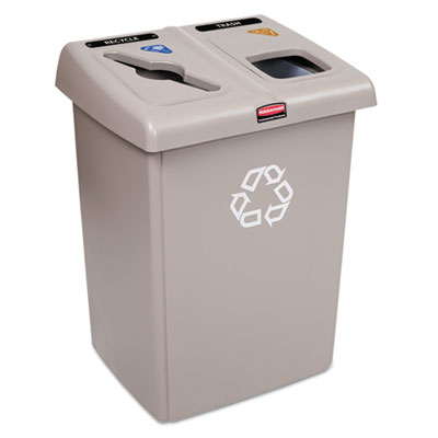 Rubbermaid 1792371 Commercial Glutton Recycling Station