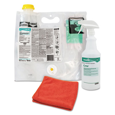 Diversey 100875413 Crew Concentrated Restroom Floor & Surface Non-Acid Disinfectant Cleaner