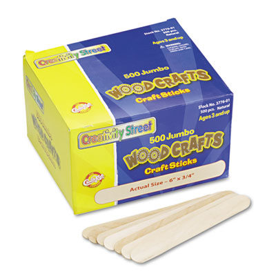 Xstamper 377601 Chenille Kraft Natural Wood Craft Sticks