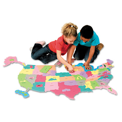 Xstamper 4377 Creativity Street WonderFoam Giant U.S.A. Puzzle Map