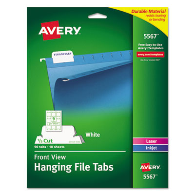 Avery 5567 Printable Hanging File Tabs