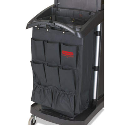 Rubbermaid 9T90BLACT Commercial Fabric 9-Pocket Cart Organizer