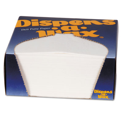 Dixie 434BX Dispens-A-Wax Waxed Deli Patty Paper