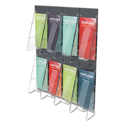 deflecto 56201 Stand Tall Multi-Pocket Wall-Mount Literature Systems