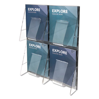 deflecto 56001 Stand Tall Multi-Pocket Wall-Mount Literature Systems
