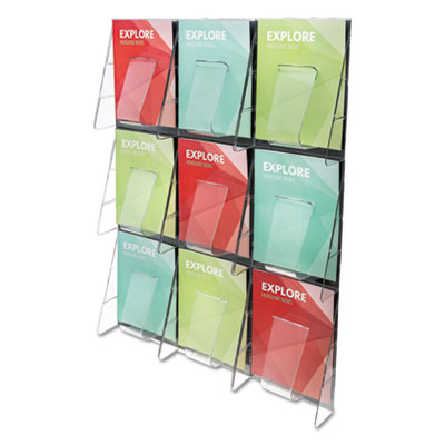 deflecto 56801 Stand Tall Multi-Pocket Wall-Mount Literature Systems