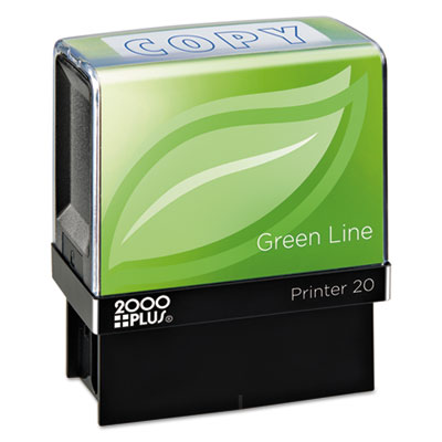 2000 PLUS 098367 COSCO 2000PLUS Green Line Self-Inking Message Stamp