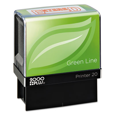 2000 PLUS 098368 COSCO 2000PLUS Green Line Self-Inking Message Stamp