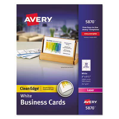 Avery 5870 Premium Clean Edge Business Cards