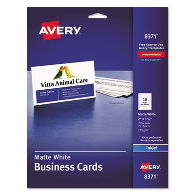 Avery 8371 Standard Printable Microperforated Business Cards