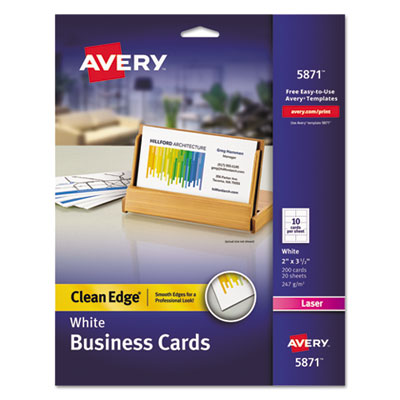 Avery 5871 Premium Clean Edge Business Cards