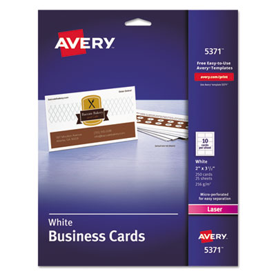 Avery 5371 Standard Printable Microperforated Business Cards
