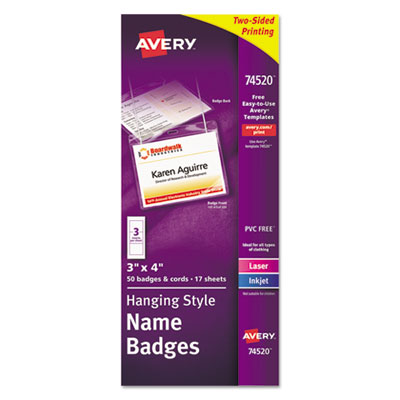 Avery Office Supplies Avery Identification Badges