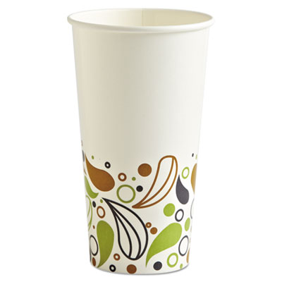 Boardwalk DEER20CCUP Deerfield Printed Paper Cold Cups