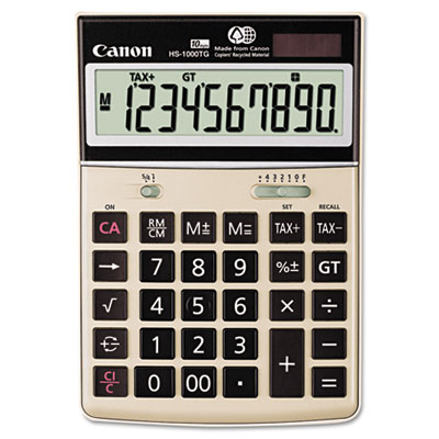 Canon 1073B010 HS-1000TG One-Color 10-Digit Desktop Calculator