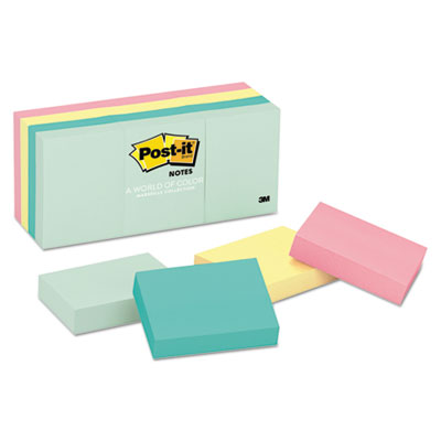 Post-it 653AST Notes Original Pads in Marseille Colors