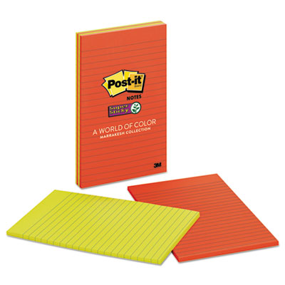Post-it 5845SSAN Notes Super Sticky Pads in Marrakesh Colors