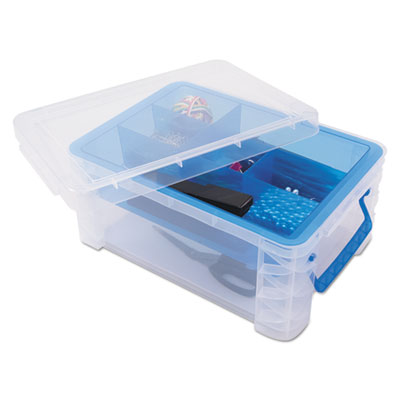 Advantus 37371 Super Stacker Divided Storage Box