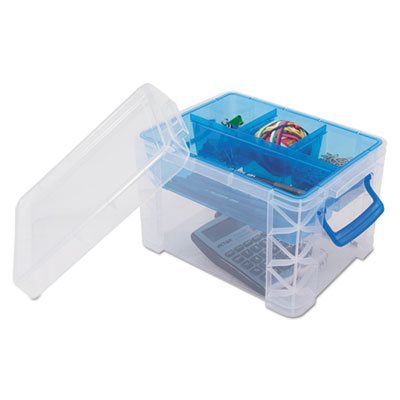 Advantus 37375 Super Stacker Divided Storage Box
