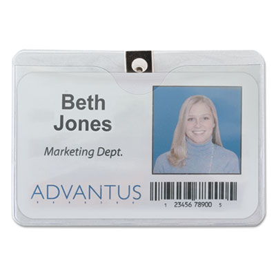 Advantus 75456 ID Badge Holders with Clip