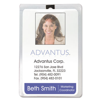 Advantus 75457 ID Badge Holders with Clip
