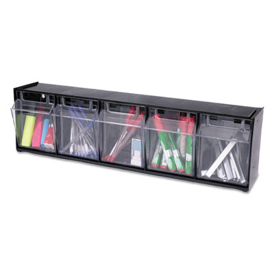 deflecto 20504OP Tilt Bin Horizontal Interlocking Storage System