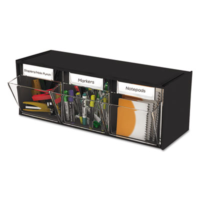 deflecto 20304OP Tilt Bin Horizontal Interlocking Storage System