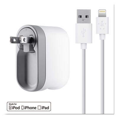 Belkin F8J032TT04WH 2.1 Amp Swivel Charger with Lightning Cable