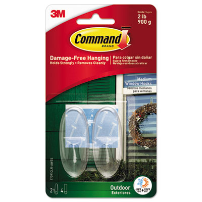 Command 17091CLRAWES All Weather Hooks and Strips