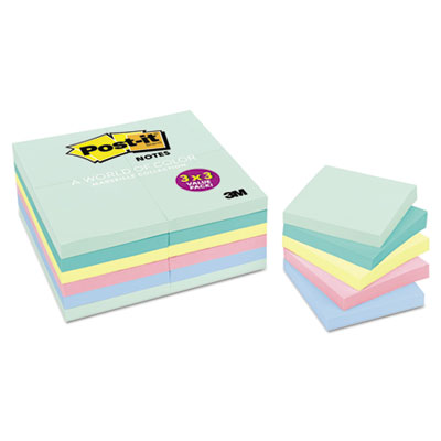 Post-it 65424APVAD Notes Original Pads in Marseille Colors