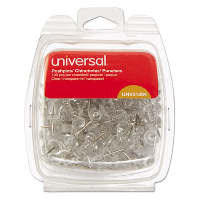 Universal 31304 Clear Push Pins