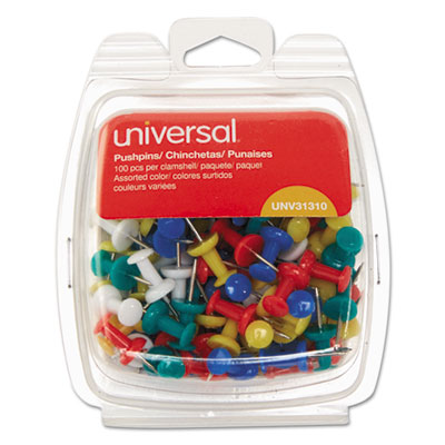 Universal 31310 Colored Push Pins