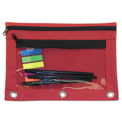Advantus 94037 Binder Pencil Pouch with Two Clear Pockets