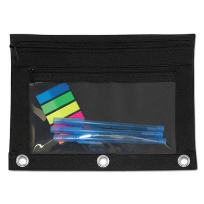 Advantus 94036 Binder Pencil Pouch with Two Clear Pockets