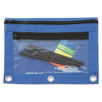 Advantus 94038 Binder Pencil Pouch with Two Clear Pockets