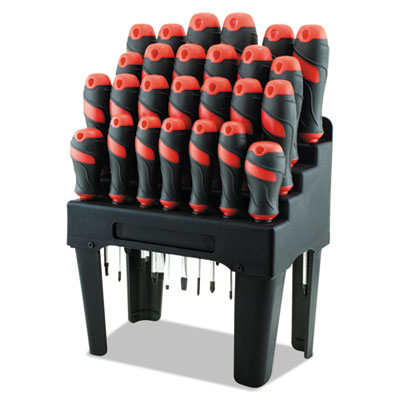 Great Neck 60179 Screwdriver Set and Storage Rack