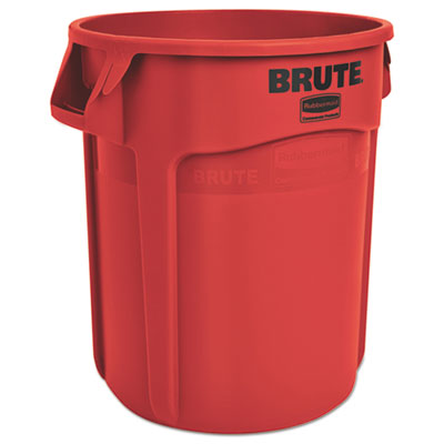 Rubbermaid 2620REDCT Commercial Vented Round Brute Container