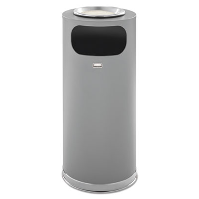 Rubbermaid SO17SUSCGRGL Commercial Metallic Series Ash/Trash Waste Receptacle