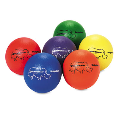 Champion Sports RXD6SET Rhino Skin Dodge Ball Set