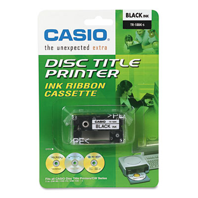 Casio TR18BK Black Cartridge Ribbon
