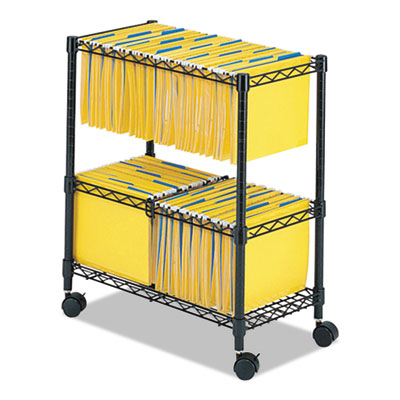 Safco 5278bl Two Tier Rolling File Cart