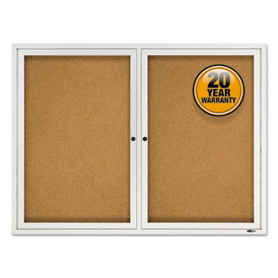 Quartet 2124 Enclosed Outdoors Bulletin Board