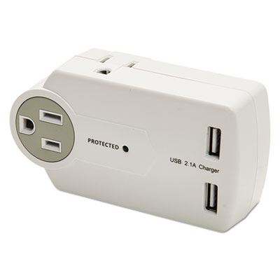 Innovera 71717 Travel Charger/Surge Protector with USB Ports