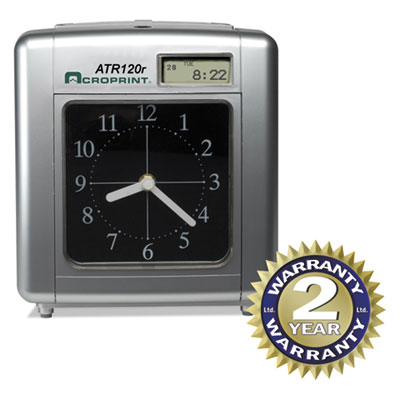 Acroprint 010212000 Model ATR120 Time Clock for Weekly/Biweekly Pay Periods