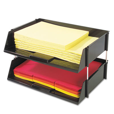 deflecto 582704 Industrial Tray Side Loading Stacking Tray Set