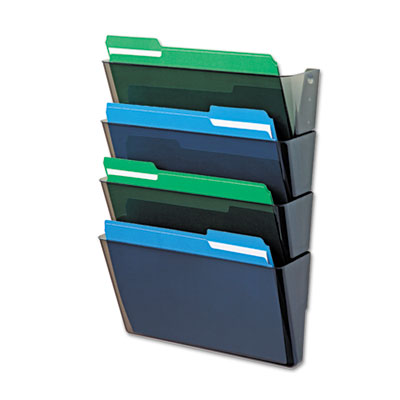 deflecto 73402 DocuPocket Stackable Four-Pocket Wall Set