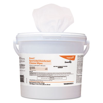 Diversey 100895931 Avert Sporicidal Disinfectant Cleaner Wipes