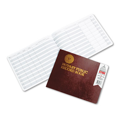 Dome 880 Notary Public Record Book