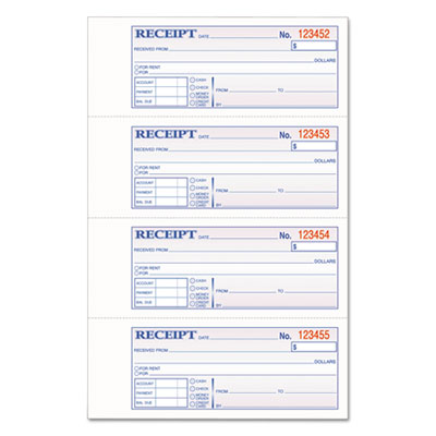 Adams Manufacturing TCH1185 Adams TOPS 3-Part Hardbound Receipt Book